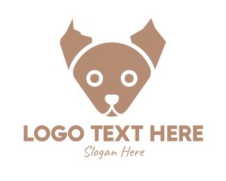 Puppy - Brown Puppy logo design