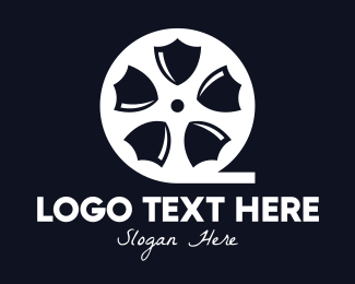 Film Strip - Shield Movie logo design