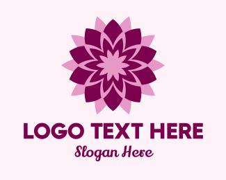 Blooming Lotus Flower  Logo