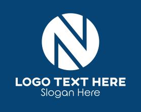Advertising - Circle Letter N logo design