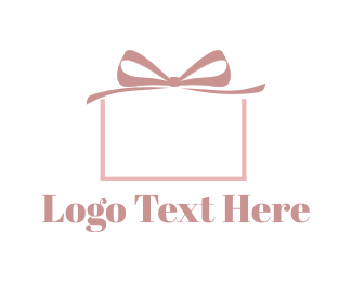 Gift Box - Pink Present logo design
