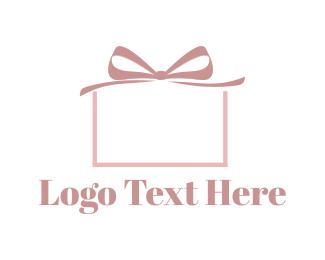 Celebration - Pink Present logo design