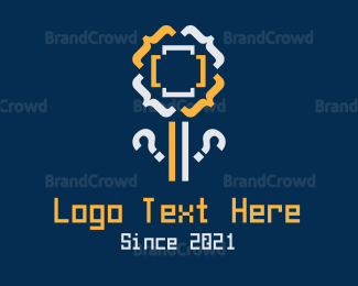 Coder - Code Flower logo design