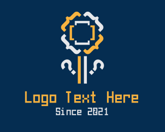 Symbols - Code Flower logo design
