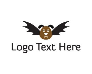 Vampire - Bat Dog logo design
