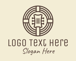 String Instrument - Guitar Music Instrument logo design