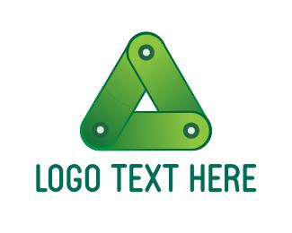 Triangular - Green Triangle logo design