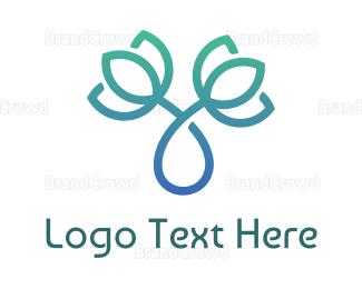 Pure - Gradient Green Lotus Twister logo design