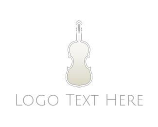 Dainty - Silver Violin logo design