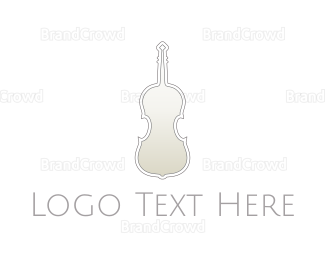Symphony - Silver Violin logo design