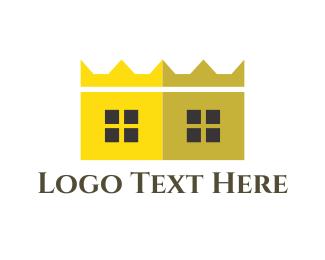 Accommodation - Crown House logo design