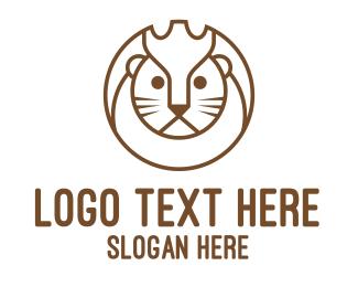 Financial Advisor - Lion Circle Outline logo design