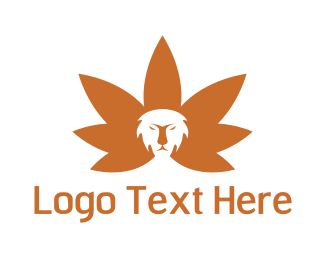 Cannabis - Cannabis Lion logo design