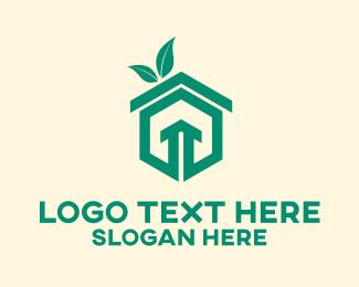 Smart Home - Eco Friendly Home logo design
