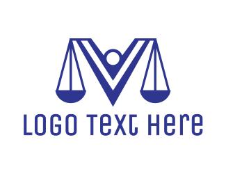 Lawyer - Blue V Lawyer logo design