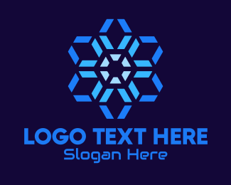 Graphics - Hexagon Radial Network logo design