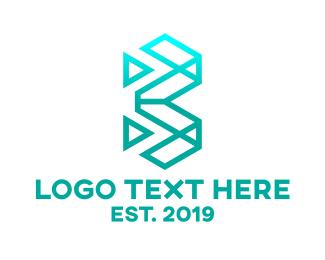 Poygon - Geometric Letter B logo design