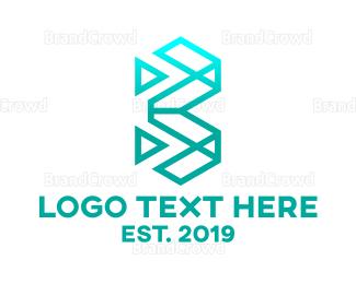 Letter B - Geometric Letter B logo design