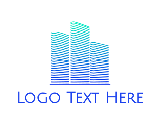 Buildings - Abstract Pattern Buildings logo design