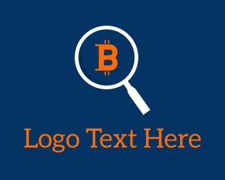 Blockchain - Bitcoin Search logo design