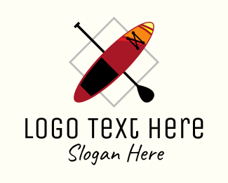 Rowing - Kayaking Boat logo design