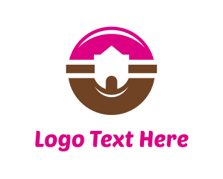 Chocolate - Donut Castle logo design