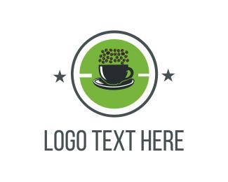 Green Coffee Cup Logo