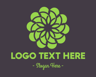 Seasonal - Green Flower Pattern logo design