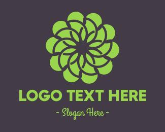 Pattern - Green Flower Pattern logo design
