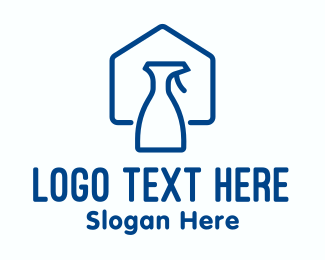 Cleaning - Home Clean Disinfectant Spray logo design
