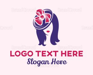 Dermatologist - Fashion Woman Hat logo design