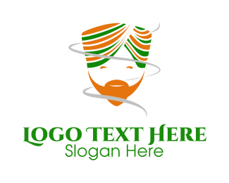 Genie - Happy Indian Turban Man logo design