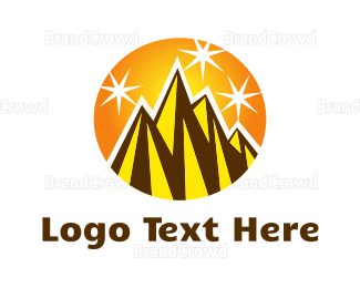 Fortune - Shiny Gold Peaks logo design