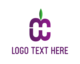 Bloom - Purple Fruit logo design