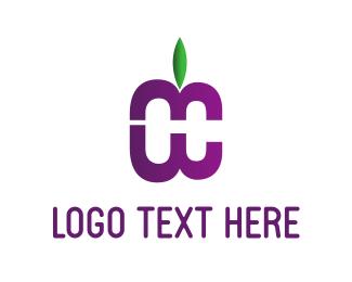 Green And Purple - Purple Fruit logo design