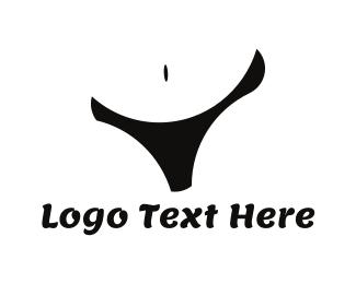 Stomach - Black Lingerie logo design