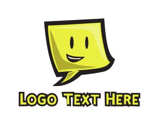 Hello - Smiling Note logo design