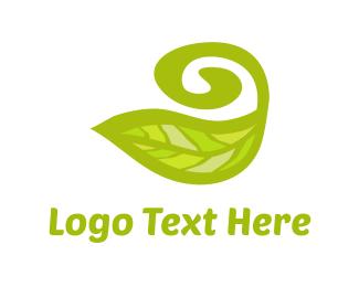 Earth - Swirly Leaf logo design