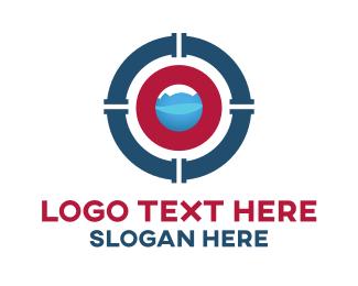 Plumbing - Plumb Target logo design