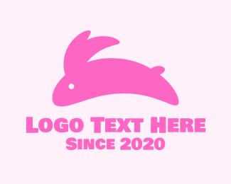 Bunny - Pink Bunny logo design