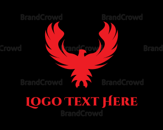 Red And Black - Red Phoenix logo design