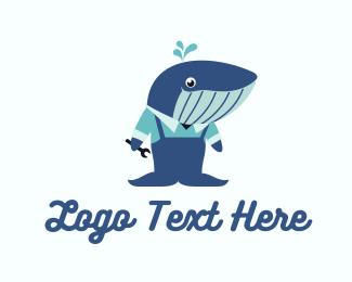 Tools - Whale Service logo design