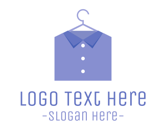 Fashion - Blue Shirt  logo design