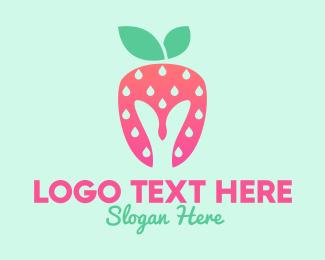 Strawberry - Strawberry Helmet logo design