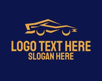 Car - Cool Yellow Car logo design