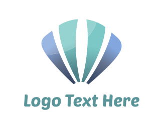 Jewel - Blue Sea Shell logo design