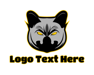 Siamese Cat - Angry Hyena Gaming logo design