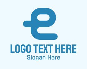 Gaming - Blue Cyber Letter E logo design