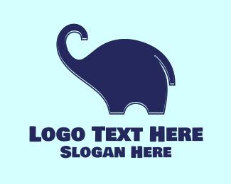 Trunk - Baby Elephant logo design