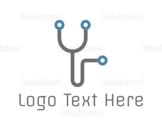 Chiropractic - Electronic Stethoscope logo design